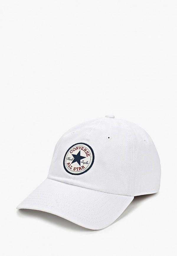 женская бейсболка converse, белая
