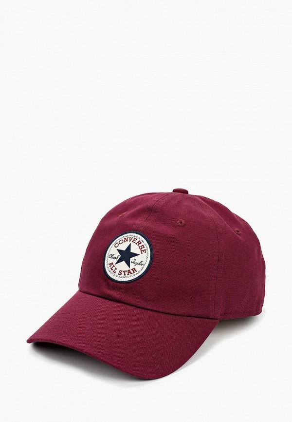 женская бейсболка converse, бордовая