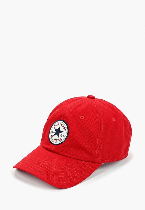 женская бейсболка converse, красная