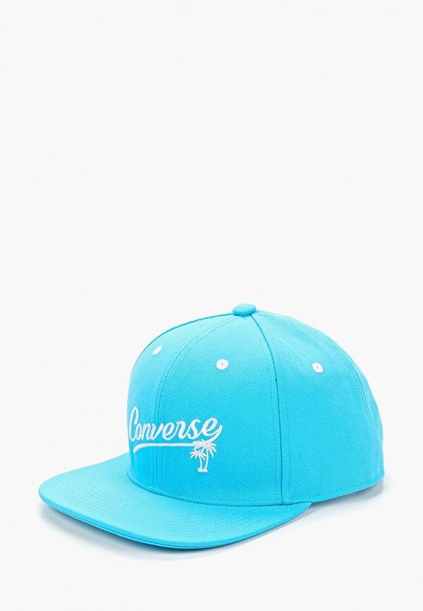 женская бейсболка converse, голубая