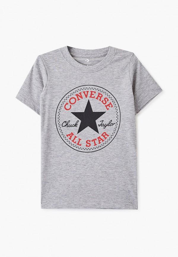 Купить Футболку Converse серого цвета