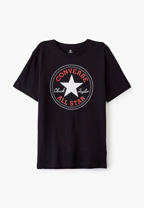 футболка с коротким рукавом converse для мальчика, черная