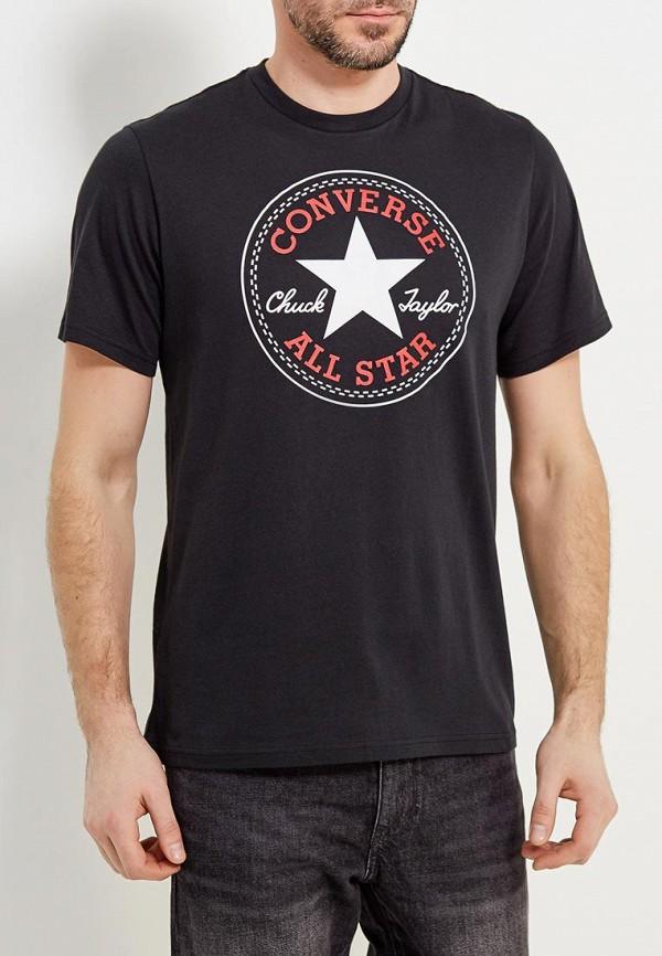 Купить Мужскую футболку Converse черного цвета