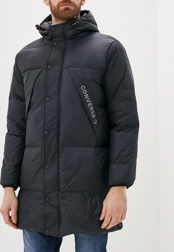 мужская утепленные куртка converse, черная
