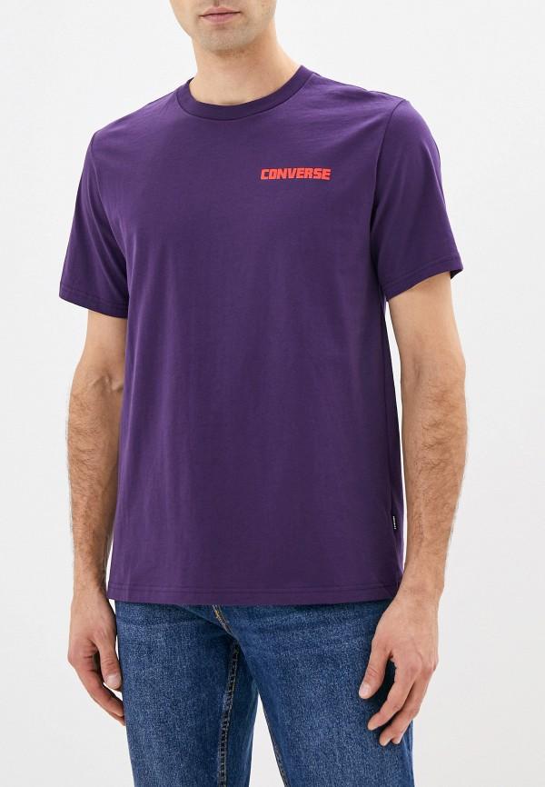 мужская футболка с коротким рукавом converse, фиолетовая