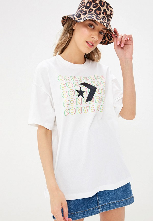 женская футболка converse, белая