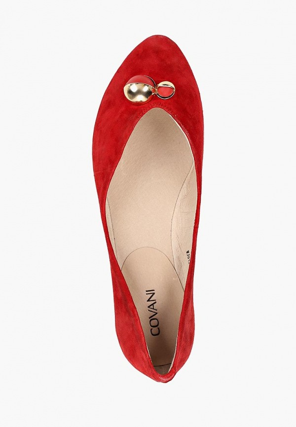 Фото 4 - женские туфли Covani красного цвета