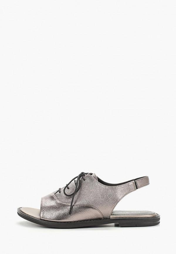 женские сандалии covani, серебряные
