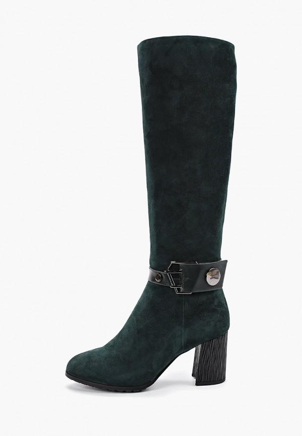 женские сапоги covani, зеленые