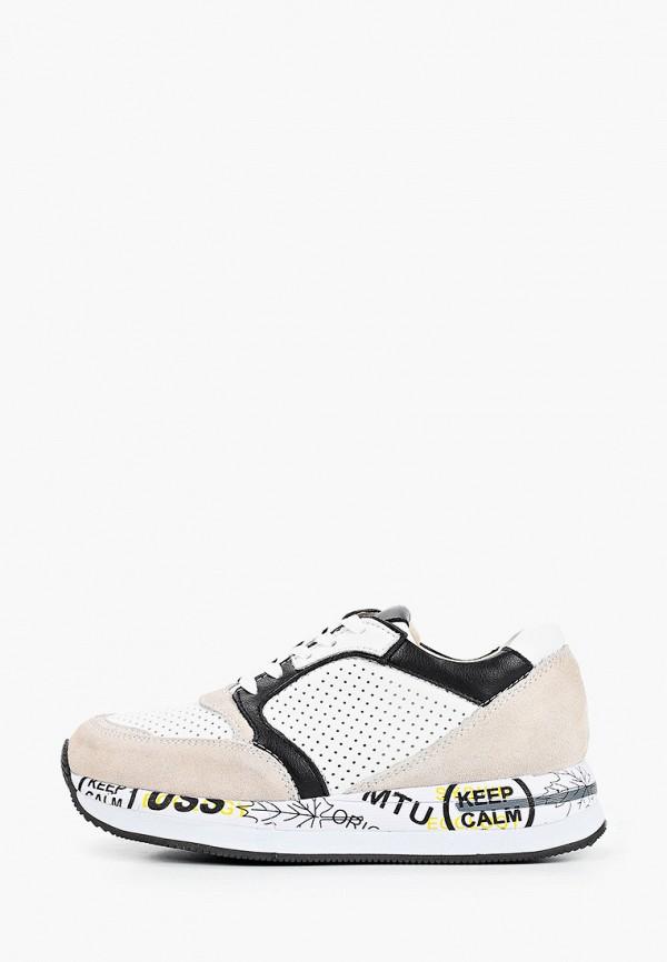 женские низкие кроссовки covani, бежевые