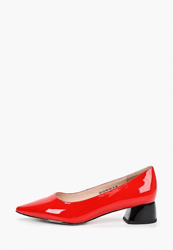 женские туфли с закрытым носом covani, красные