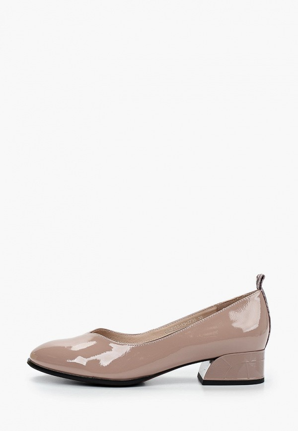 женские туфли с закрытым носом covani, бежевые