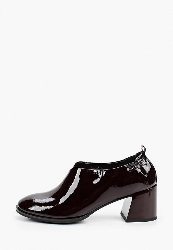 женские туфли с закрытым носом covani, бордовые