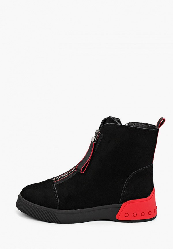 женские высокие ботинки covani, черные