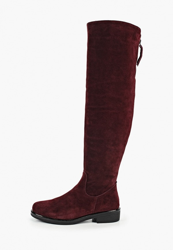 женские ботфорты covani, бордовые