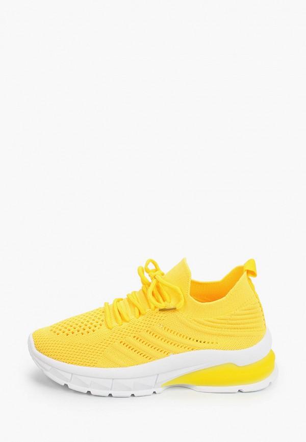 женские кроссовки covani, желтые