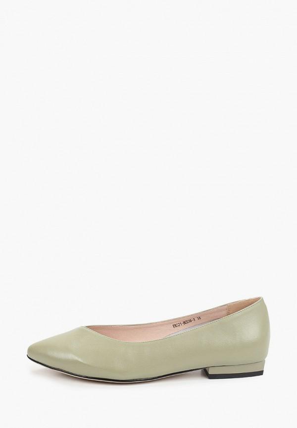 женские туфли с закрытым носом covani, зеленые