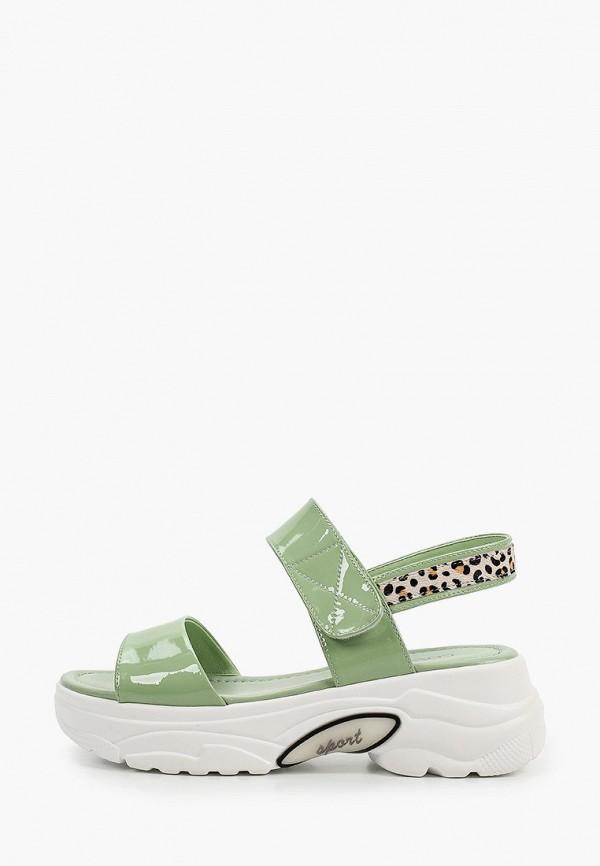женские сандалии covani, зеленые