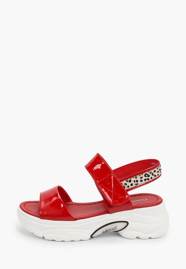женские сандалии covani, красные