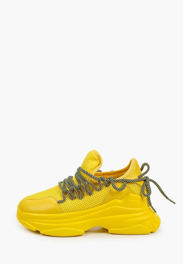 женские низкие кроссовки covani, желтые