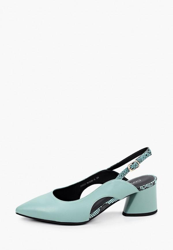 женские туфли covani, бирюзовые