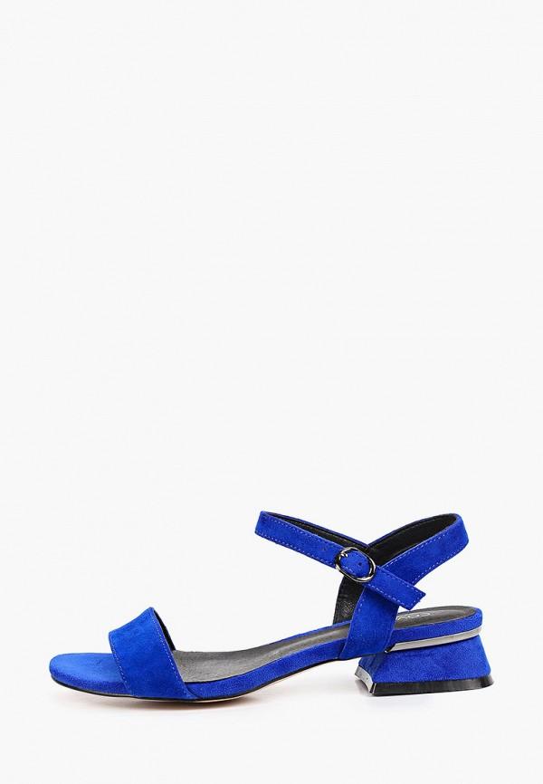 женские босоножки covani, синие