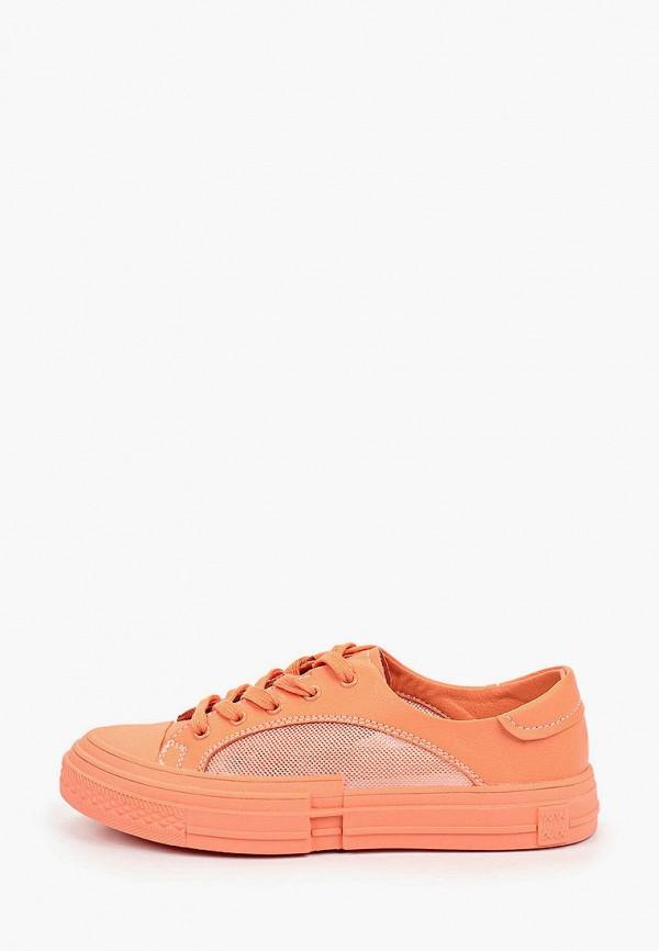 женские низкие кеды covani, оранжевые
