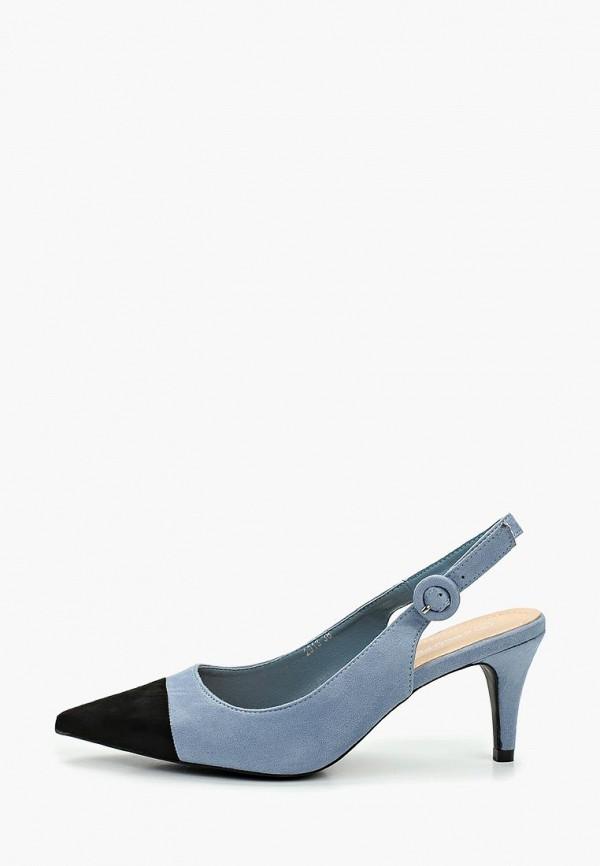 женские туфли coco perla, голубые