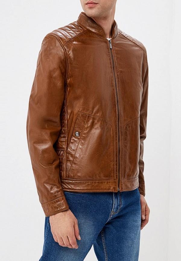 Купить Куртка кожаная Cortefiel, CO046EMCLWU3, коричневый, Осень-зима 2018/2019