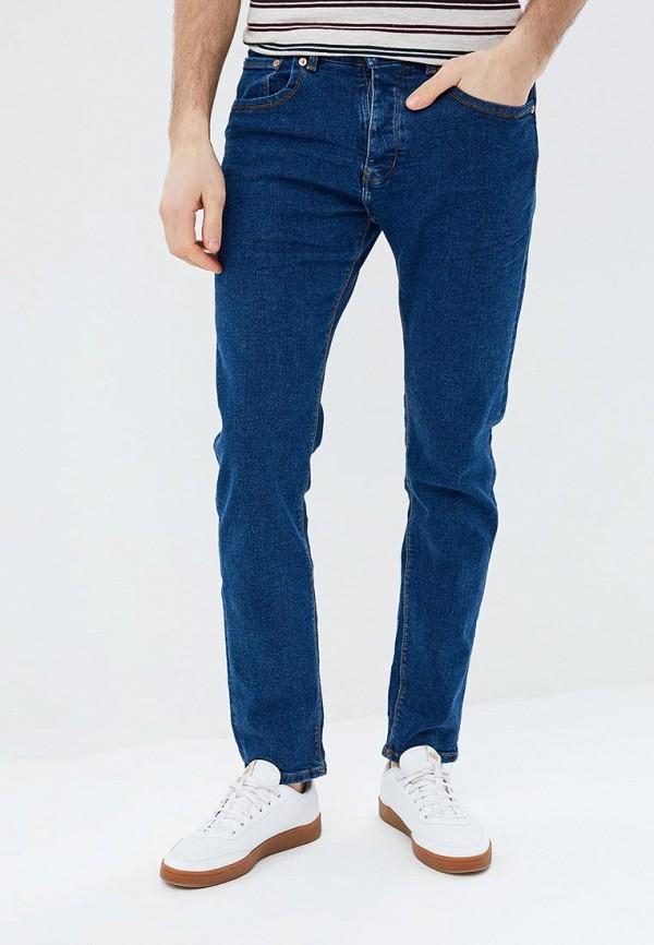 мужские зауженные джинсы cortefiel, синие