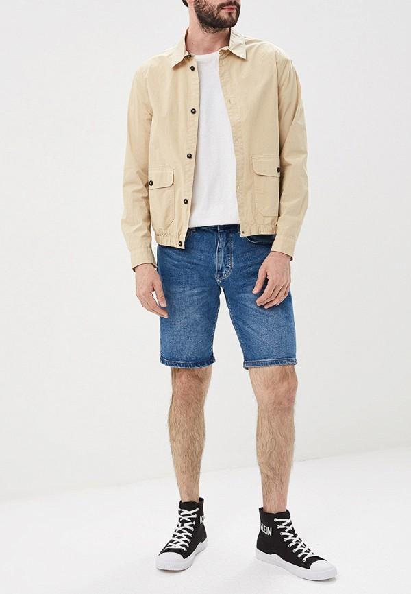Фото 2 - Шорты джинсовые Cortefiel синего цвета