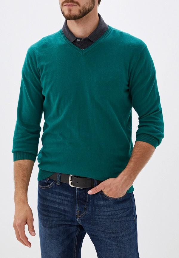 мужской пуловер cortefiel, зеленый