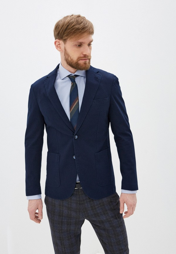 мужской пиджак cortefiel, синий