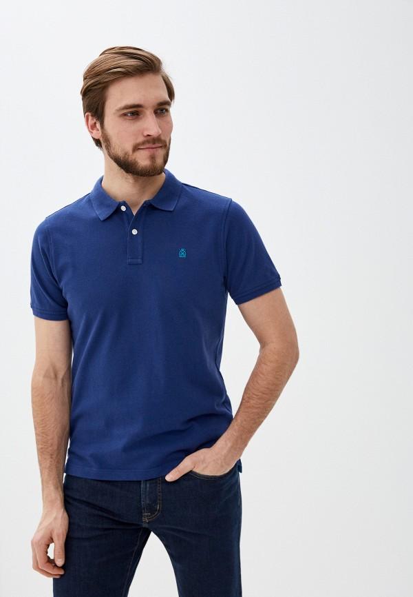 мужское поло cortefiel, синее