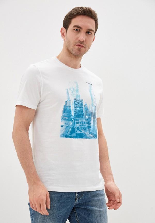 мужская футболка с коротким рукавом cortefiel, белая