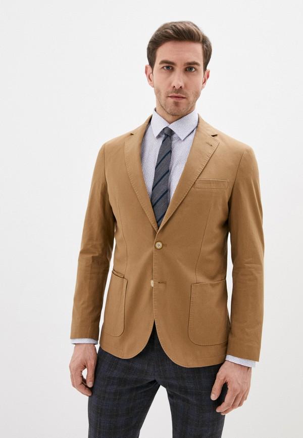 мужской пиджак cortefiel, коричневый