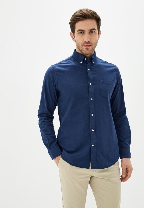 мужская рубашка с длинным рукавом cortefiel, синяя