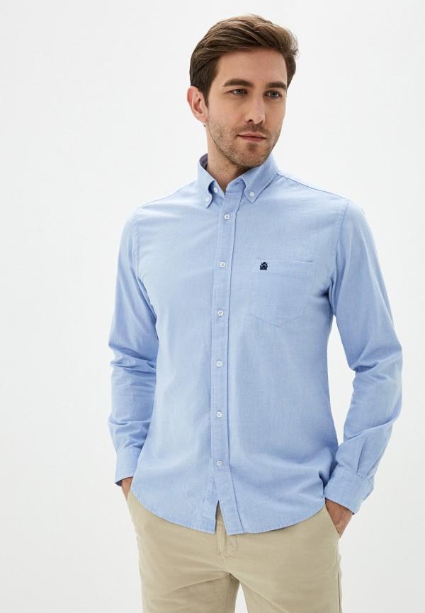 мужская рубашка с длинным рукавом cortefiel, голубая