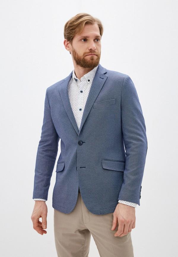 мужской пиджак cortefiel, голубой