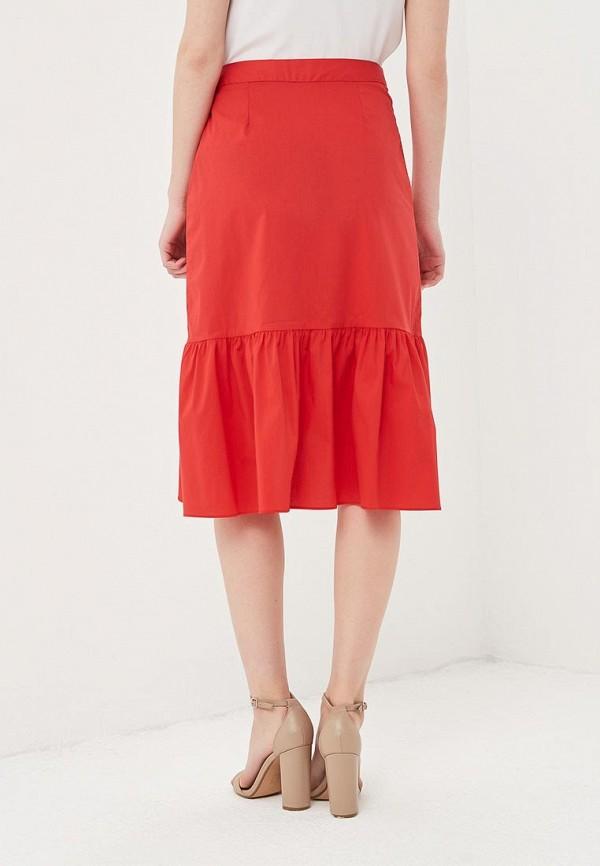 Фото 3 - женскую юбку Cortefiel красного цвета