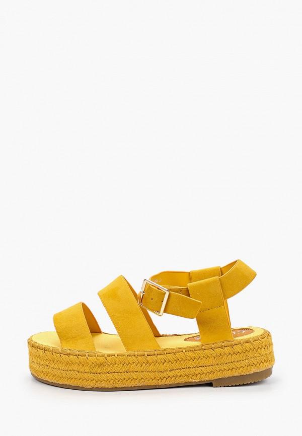 женские сандалии coura, желтые