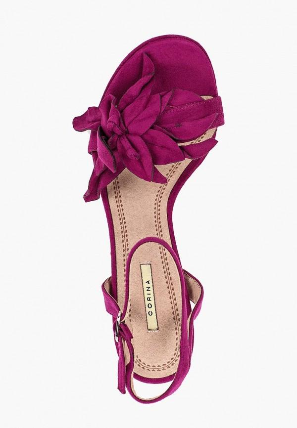 Фото 4 - женские босоножки Corina фиолетового цвета