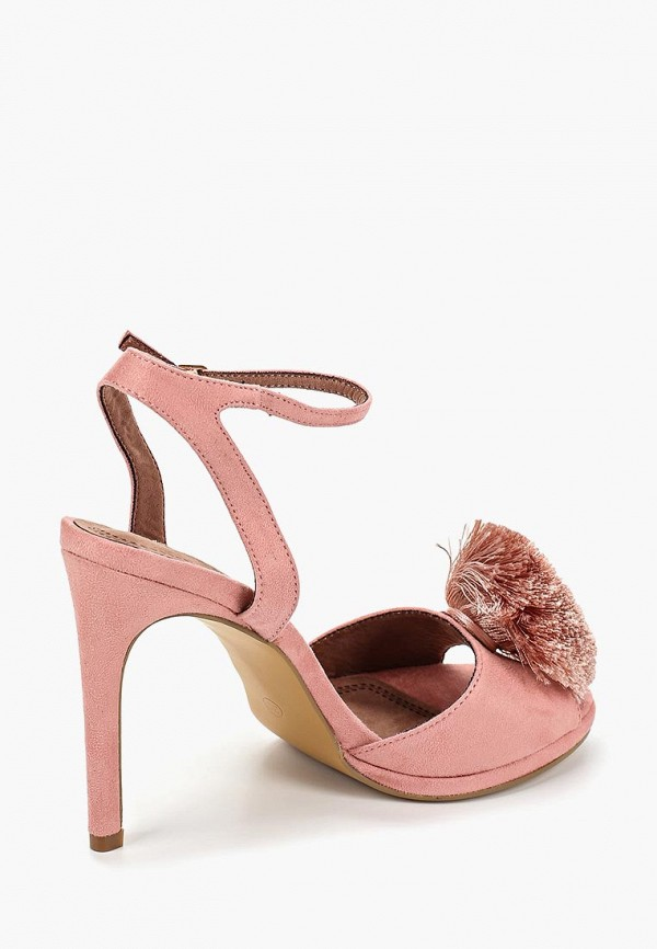 Фото 3 - женские босоножки Corina розового цвета