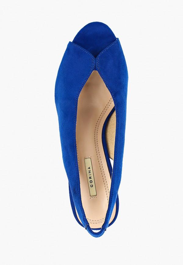 Фото 4 - женские босоножки Corina синего цвета