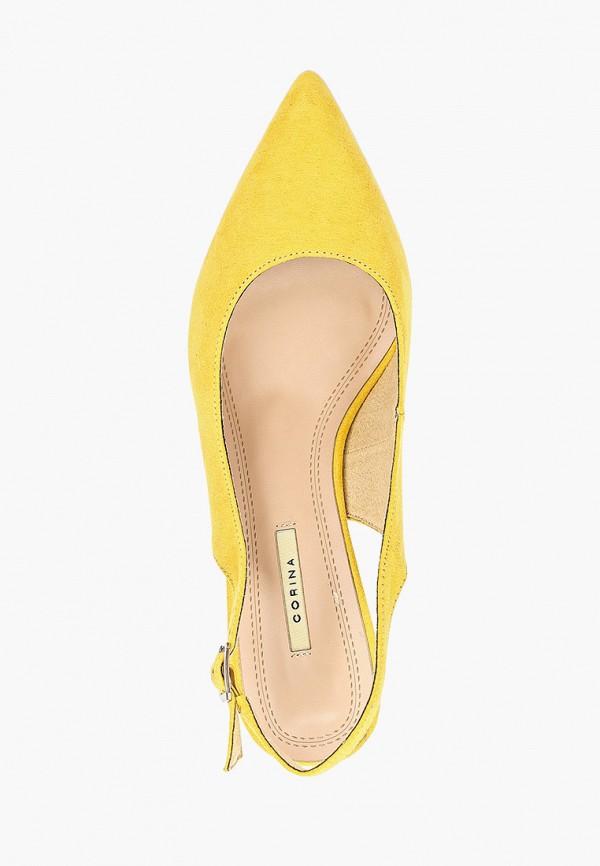 Фото 4 - женские туфли Corina желтого цвета
