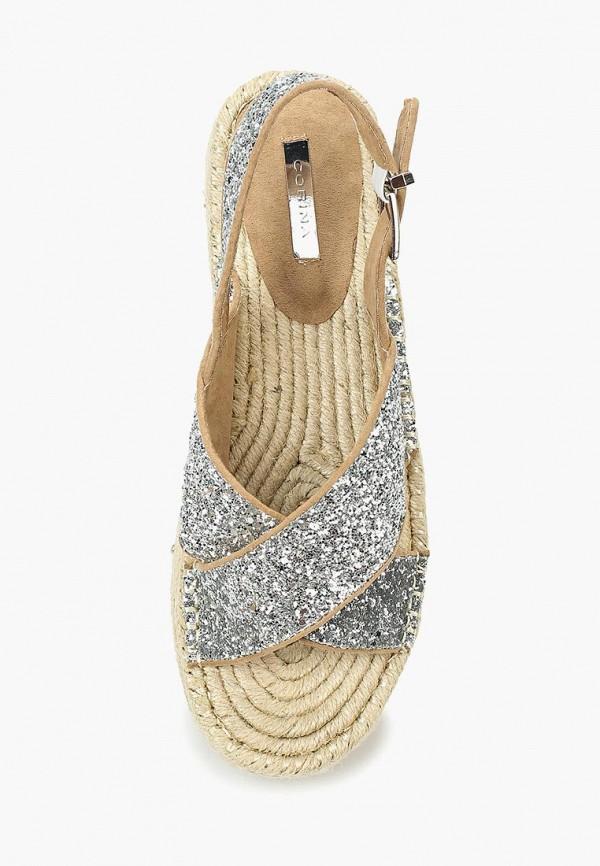 Фото 14 - женские сандали Corina серебрянного цвета