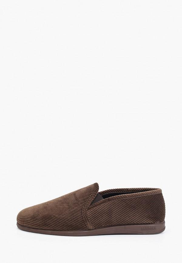 мужские тапочки costa, коричневые