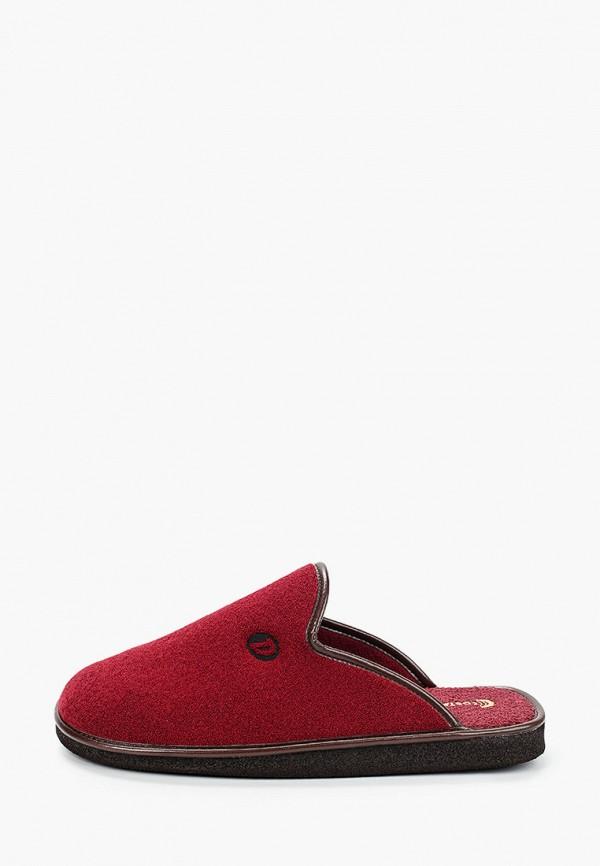 мужские тапочки costa, красные