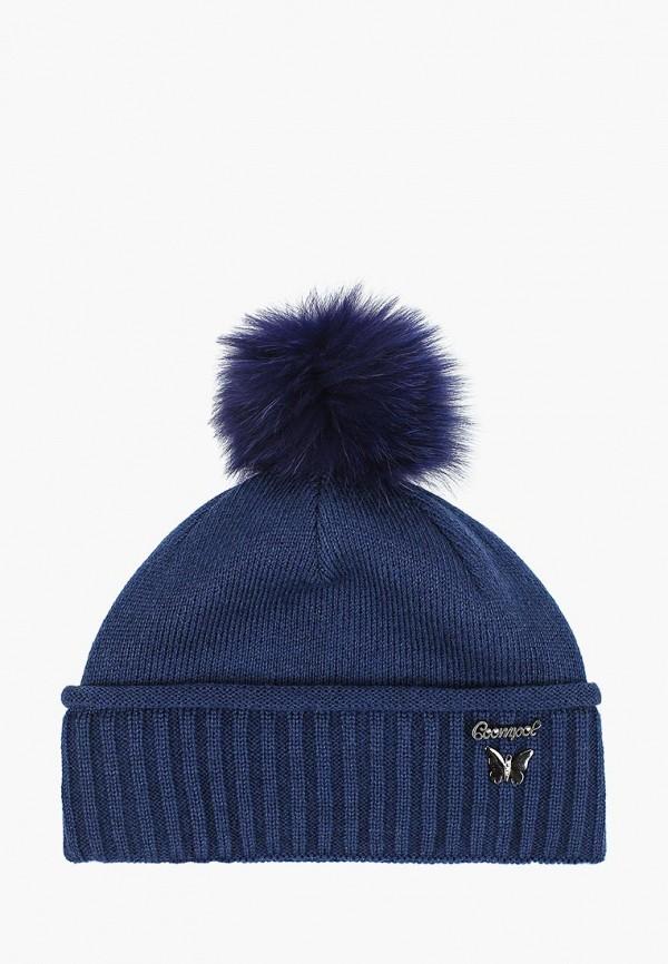 шапка coompol для девочки, синяя