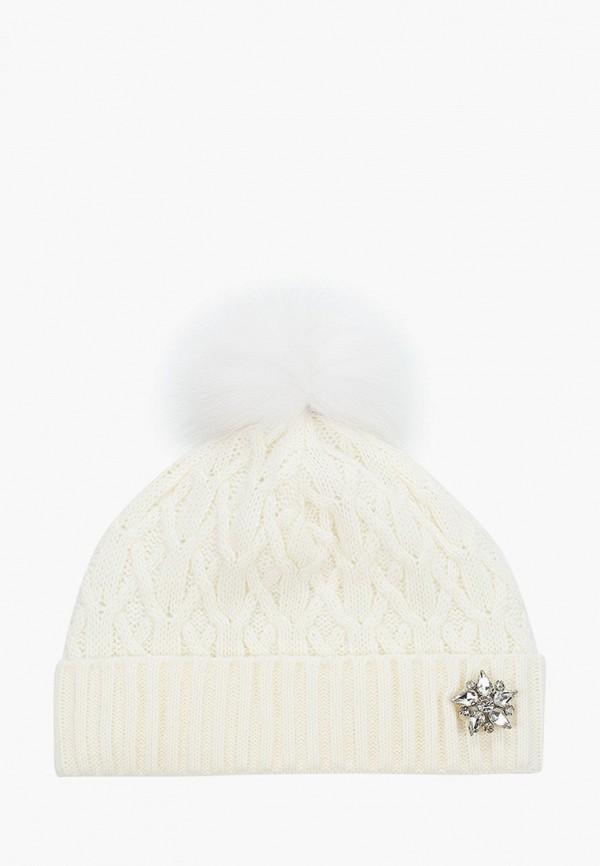 шапка coompol для девочки, белая